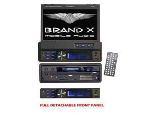 BrandX - 7'' single DIN In-Dash Motorized Touch Screen TFT/LCD Monitor with DVD/CD/MP3/MP4/USB/SD/AM/FM/RDS Receiver (Refurbished)