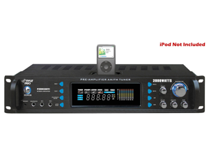 Pyle P2002ABTI 2000 Watts Hybrid Receiver and Pre-Amplifier with AM-FM Tuner/iPod Docking Station and Bluetooth