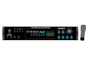 PyleHome - 1000 Watts AM/FM/ Tuner Hybrid Amplifier W/ 70V Output w/Built In Auto Mute Function And Music On Hold Output (Refurbished)