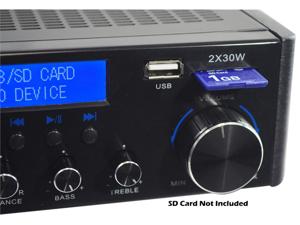 PyleHome - 60 Watts/ Hi-Fi Mini Amplifier USB/SD Card Player (Refurbished)