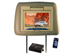 Pyle - Adjustable Headrest w/Built-in 7'' TFT Monitor