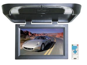 Pyle - 17'' Flip Down Monitor w/ Built in DVD/ SD/ USB Player w/ Wireless FM Modulator & IR Transmitter (Refurbished)