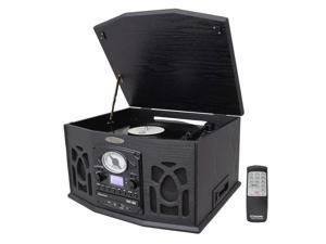 PyleHome - Vintage Turntable With CD/Cassette/Radio/Aux-In/USB/SD/MP3 and Vinyl-to-MP3 Encoding