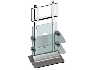 "36""-42"" Flat Panel TV Wall Unit with Acrylic & Steel Shelf"