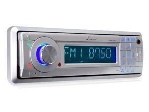 Lanzar - AM/FM Marine In-Dash Detachable Face Radio w/MP3/USB/SD/AUX Input with Bluetooth Wireless Technology