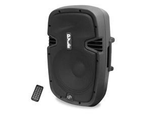 8'' 600 Watt Bluetooth Powered Speaker System With USB Flash Reader, AUX/MP3 Input and Included Remote Control