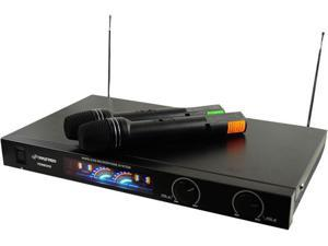 Wireless 2 Channel VHF Microphone System With 2 Microphones