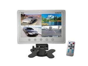 7'' Quad TFT/LCD Video Monitor w/Headrest Shroud RCA Connectors(White)