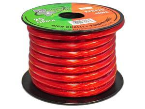 Pyramid RPR425 4 Gauge Power Wire 25 feet OFC (Clear Red)