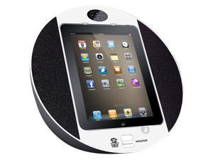 PyleHome - iPod/iPhone iPad Touch Screen Dock with Built-In FM Radio/Alarm Clock (White)