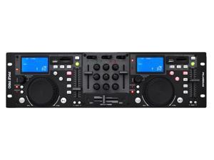 PylePro - Rack Mount Professional Dual DJ Controller with Scratch, Loop, Mixer, USB, and SD Card Player