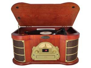 PyleHome - Classical Turntable with AM/FM Radio CD/Cassette & USB Recording