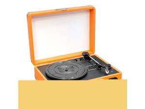 PylePro - Retro Belt-Drive Turntable With USB-to-PC Connection, Rechargeable Battery (Orange Color)