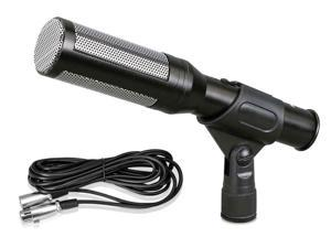 PylePro - Electret Condenser Shotgun Microphone with 16 ft. XLR to 1/4'' Cable & Windscreen