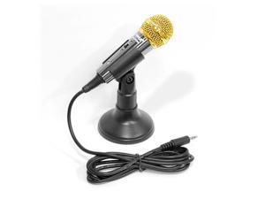 PylePro - Vocal Condenser Microphone For Computer , Condenser Karaoke  Microphone , or PA Amplifier (Black Color)
