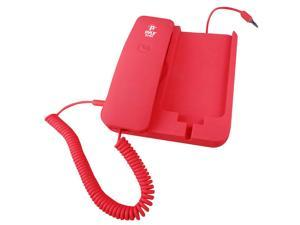 PyleHome - Handheld Phone and Desktop Dock for iPhone (Red color)