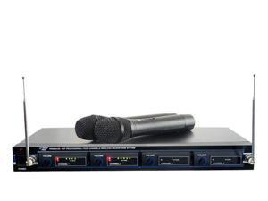 4 Mic VHF Wireless Rack Mount Microphone System