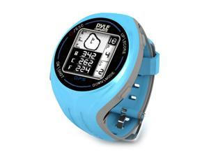 Pyle - Personal GPS Golf Watch with Automatic Course Recognition (Preloaded USA Golf Courses) (Blue Color)