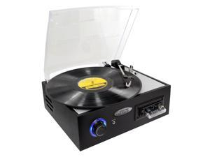 PylePro - Multifunction Turntable With MP3 Recording, USB-to-PC, Cassette Playback, Rechargeable Battery