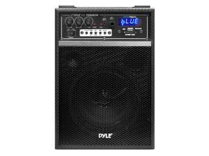 Boom Rock 300 Watt Bluetooth 6.5'' Portable PA Speaker System with Built-in Rechargeable Battery, Wired Microphone & AM/FM Radio