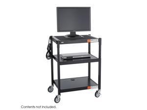 Safco 8932BL Adjustable-Height Steel AV Cart - OEM