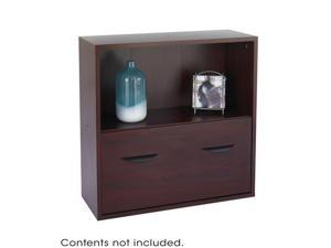 "Safco 9445MH Après™  Modular Storage Shelf with Lower File Drawer 29 3/4""w x 11 3/4""d x 29 3/4""h Mahogany"