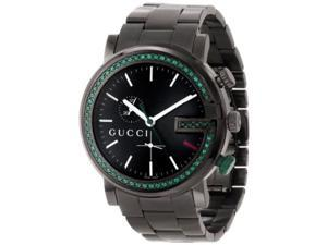 Gucci Unisex YA101349 G-Chrono Black PVD 60 Green Topaz Case Watch