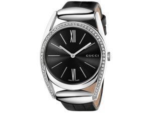 Gucci Women's YA139403 Gucci Horsebit Collection Analog Display Swiss Quartz Silver Watch