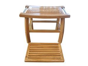 Total Teak Shower Bench with Removable Spa-Bath Mat