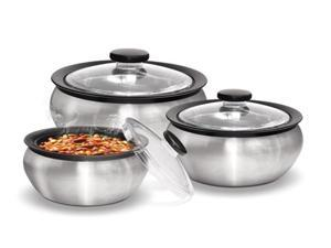 Milton Thermo Hot-pot Insulated Casserole 3-piece Gift Set