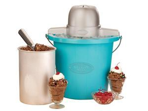 Nostalgia Electrics ICMP400BLUE Vintage Collection 4-Quart Electric Ice Cream Maker