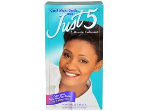 5 Minute Colorant Natural Jet Black by Just 5 for Unisex - 1 Application Hair Color
