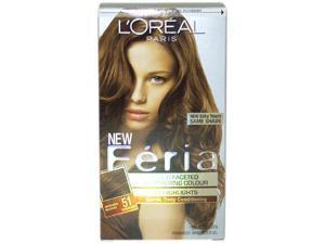 L'Oreal Feria Hair Color 51 Brazilian Brown - Bronzed Brown