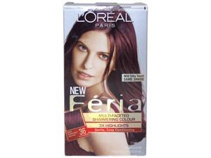 Feria Multi-Faceted Shimmering Color 3X Highlights#36 Deep Burgundy Brown-Warmer - 1 Application Hair Color