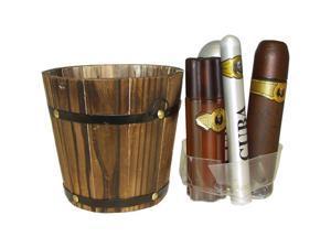Cuba Gold by Cuba for Men - 5 pc Gift Set 3.4oz edt Spray, 6.7oz deodorant Spray, 3.3oz after shave, 1.17oz edt Spray with bucket