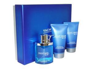 Yacht Man Blue by Myrurgia for Men - 3 Pc Gift Set 3.4oz EDT Spray, 5.1oz Shower Gel, 5.1oz After Shave Balm