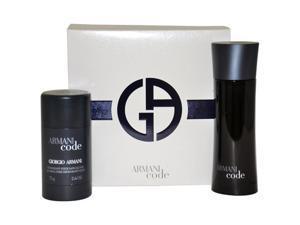 Armani Code by Giorgio Armani for Men - 2 Pc Gift Set 2.5oz EDT Spray, 2.6oz Alcohol-Free Deodorant Stick