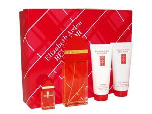 Red Door by Elizabeth Arden for Women - 4 Pc Gift Set 3.3oz EDT Spray, 3.3oz Perfumed Body Lotion, 3.3oz Bath and Shower Gel, 10ml EDT Spray Mini