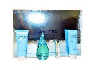 Wanted by Jesse McCartney for Women - 4 Pc Gift Set 3.4oz EDP Spray, 0.5oz EDP Spray, 5oz Body Lotion, 5oz Shower Gel