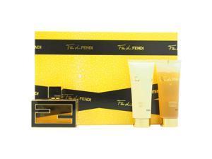 Fan di Fendi by Fendi for Women - 3 Pc Gift Set 1.7oz Extreme EDP Spray, 2.5oz Perfumed Body Lotion, 2.5oz Perfumed Bath and Shower Gel