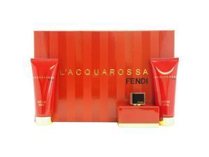 L'Acquarossa by Fendi for Women - 3 Pc Gift Set 1.7oz EDP Spray, 2.5oz Perfumed Body Lotion, 2.5oz Perfumed Shower Gel