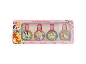Disney Princess Miniature Collection by Disney for Women - 4 Pc Gift Set 0.25oz Snow White EDT Splash, 0.25oz Cinderella EDT Splash, 0.25oz Belle EDT Splash, 0.25oz Ariel EDT Splash