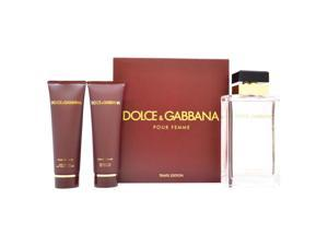 Dolce & Gabbana Pour Femme by Dolce & Gabbana for Women - 3 Pc Gift Set 3.3oz EDP Spray, 1.6oz Body Lotion, 1.6oz Shower Gel