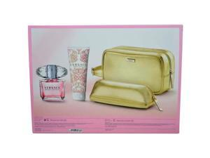 Versace Bright Crystal by Versace for Women - 2 Pc Gift Set 3oz EDT Spray, 3.4oz Perfumed Body Lotion
