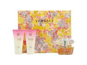 Versace Bright Crystal by Versace for Women - 3 Pc Gift Set 1.7oz EDT Spray, 1.7oz Perfumed Bath and Shower Gel, 1.7oz Perfumed Body Lotion