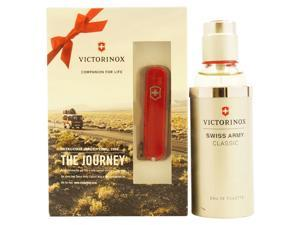 Swiss Army Classic by Swiss Army for Women - 2 Pc Gift Set 3.4oz EDT Spray, Pocket Knife Classic Red