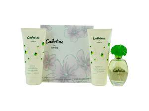 Cabotine by Gres for Women - 3 Pc Gift Set 3.4oz EDT Spray, 6.76oz Perfumed Body Lotion, 6.76oz Perfumed Bath and Shower Gel