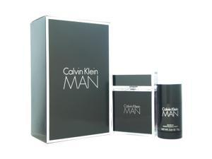 Calvin Klein Man by Calvin Klein for Men - 2 Pc Gift Set 3.4oz EDT Spray, 2.6oz Alcohol Free Deodorant Stick