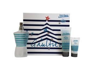Le Beau Male by Jean Paul Gaultier for Men - 3 Pc Gift Set 4.2oz EDT Fraicheur Intense Spray, 2.5oz Shower Gel, 1oz After Shave Balm