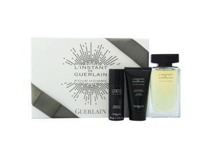 L'Instant De Guerlain Pour Homme by Guerlain for Men - 3 Pc Gift Set 4.2oz EDT Spray, 2.5oz All-Over Shower Gel, 1.7oz Deodorant Spray